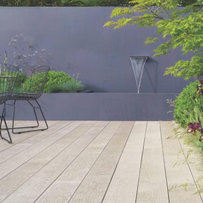 Millboard Decking Enhanced Grain Limed Oak  176mm x 3600mm x 32mm