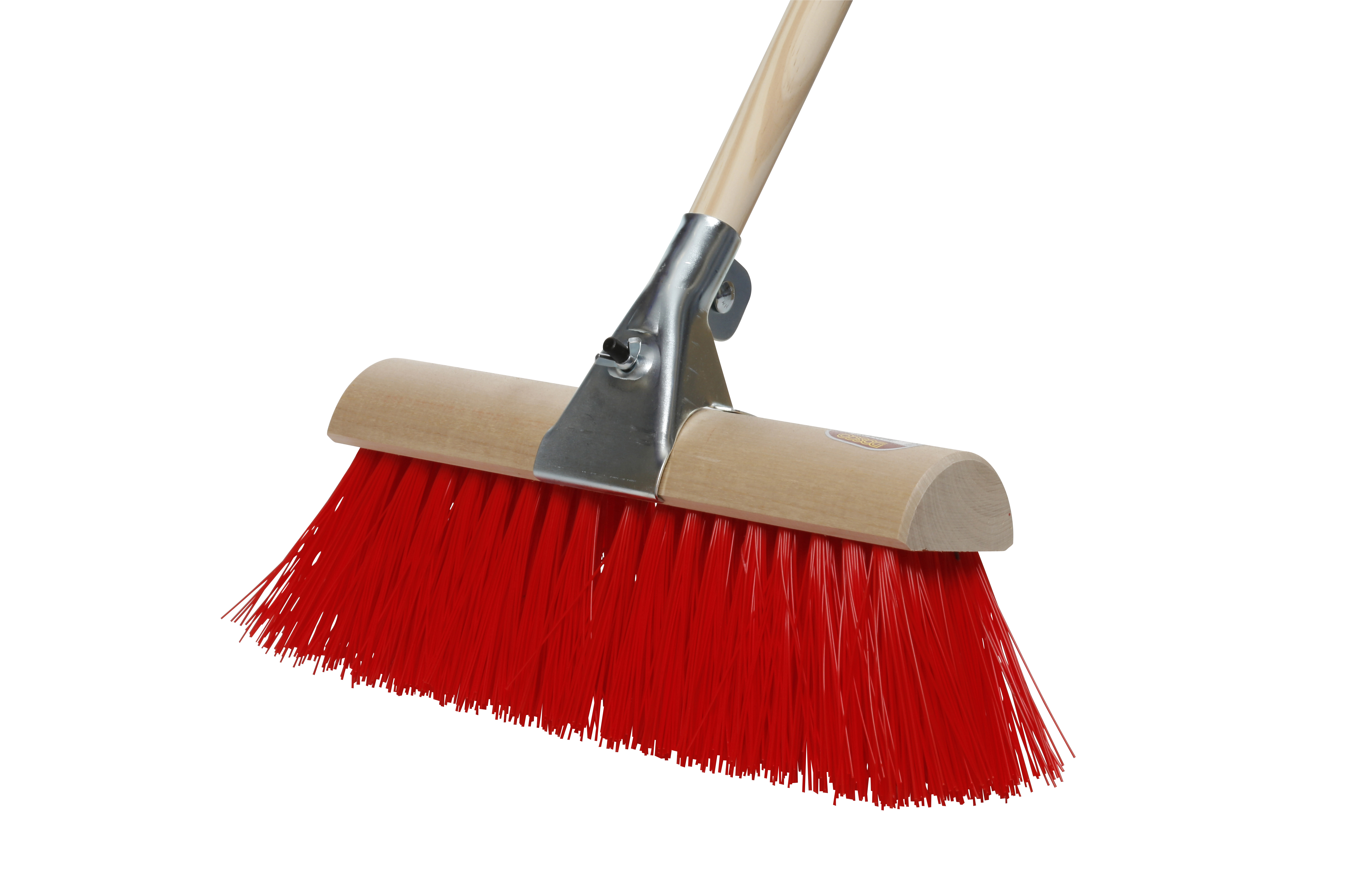 Yard Brush No. 8 Synthetic with Handle & Clamp