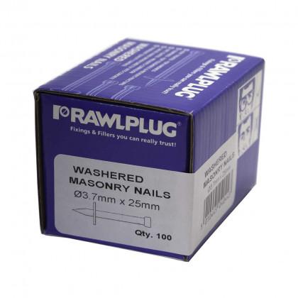 Washered Masonry Nail 3.7x25mm (100)