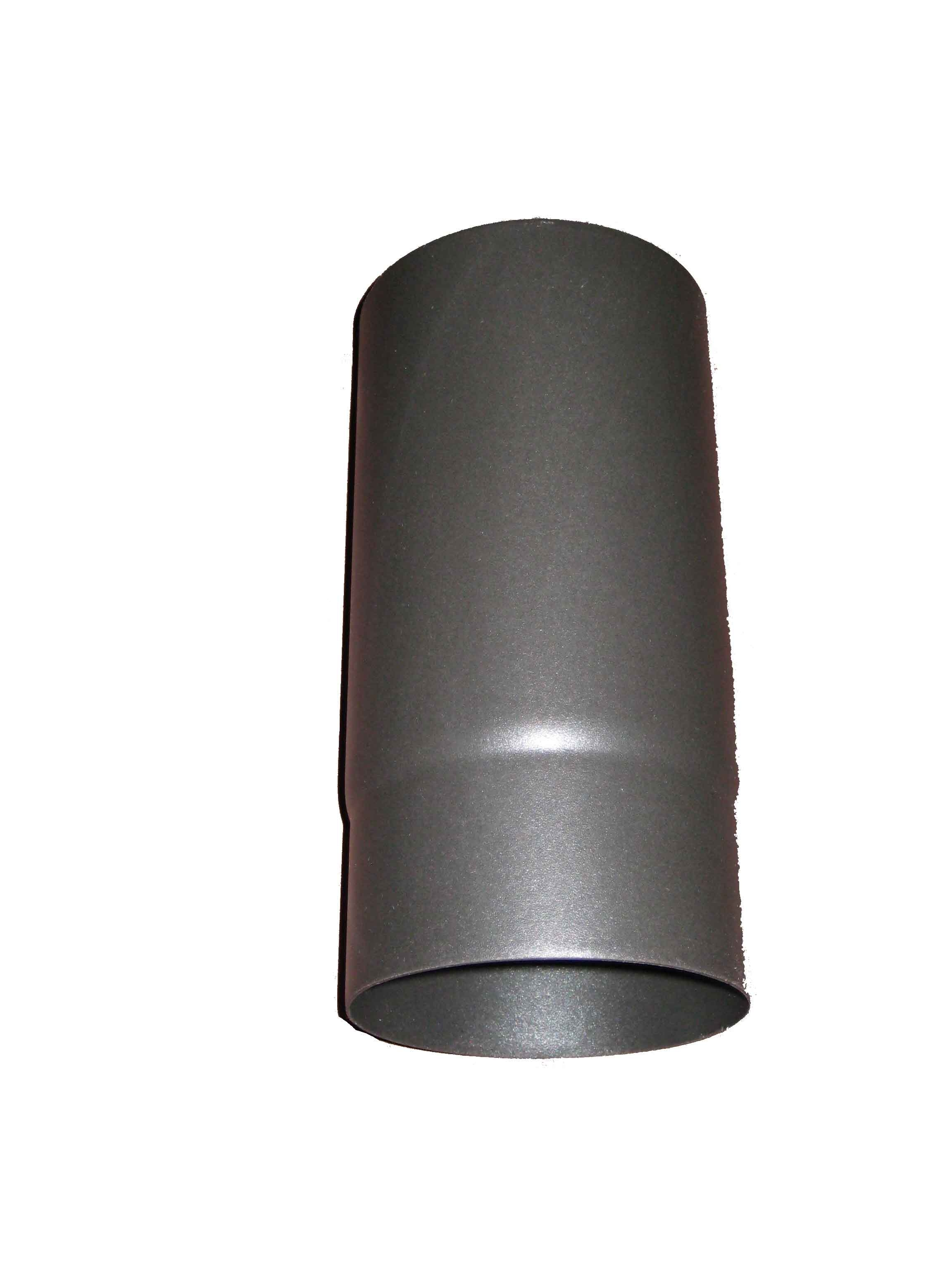 "Matt Black Enamel 250mm Straight MBE Pipe 6"""