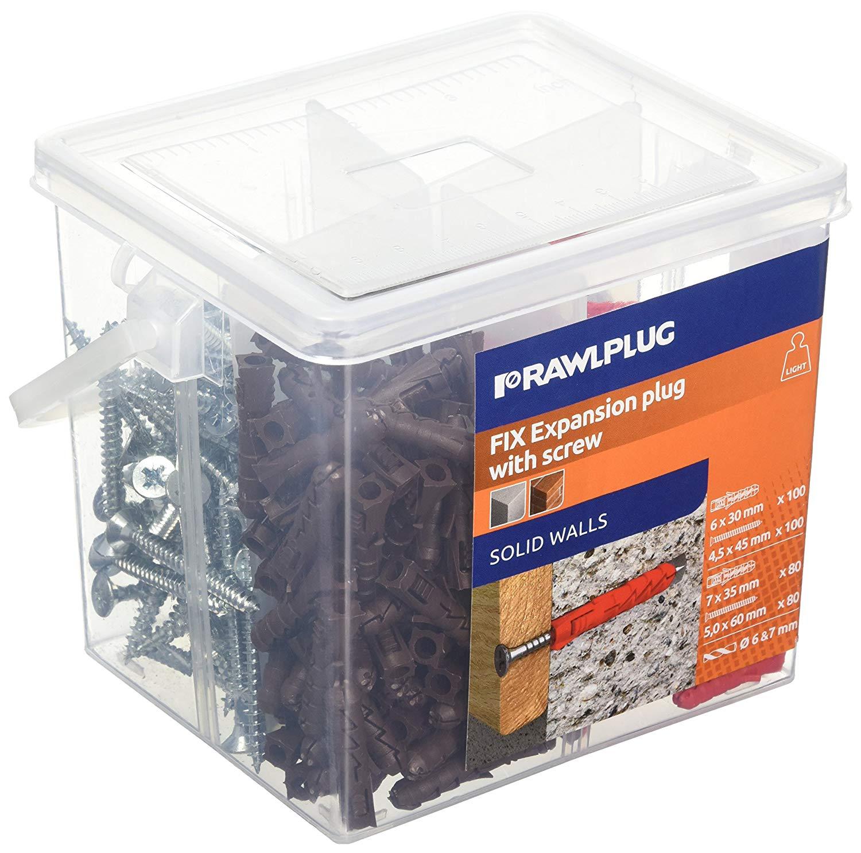 Mix Tub of 260 Brown/Red Plugs & Screws