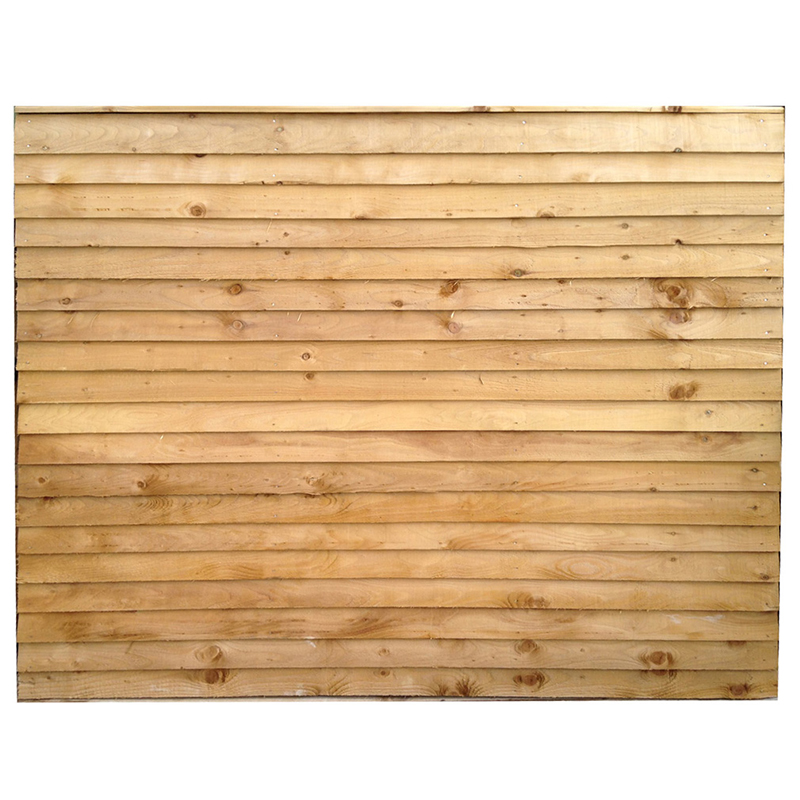 Horizontal Feather Edge Fence Panel 1830 x 1543mm Treated (Green) (6x5)