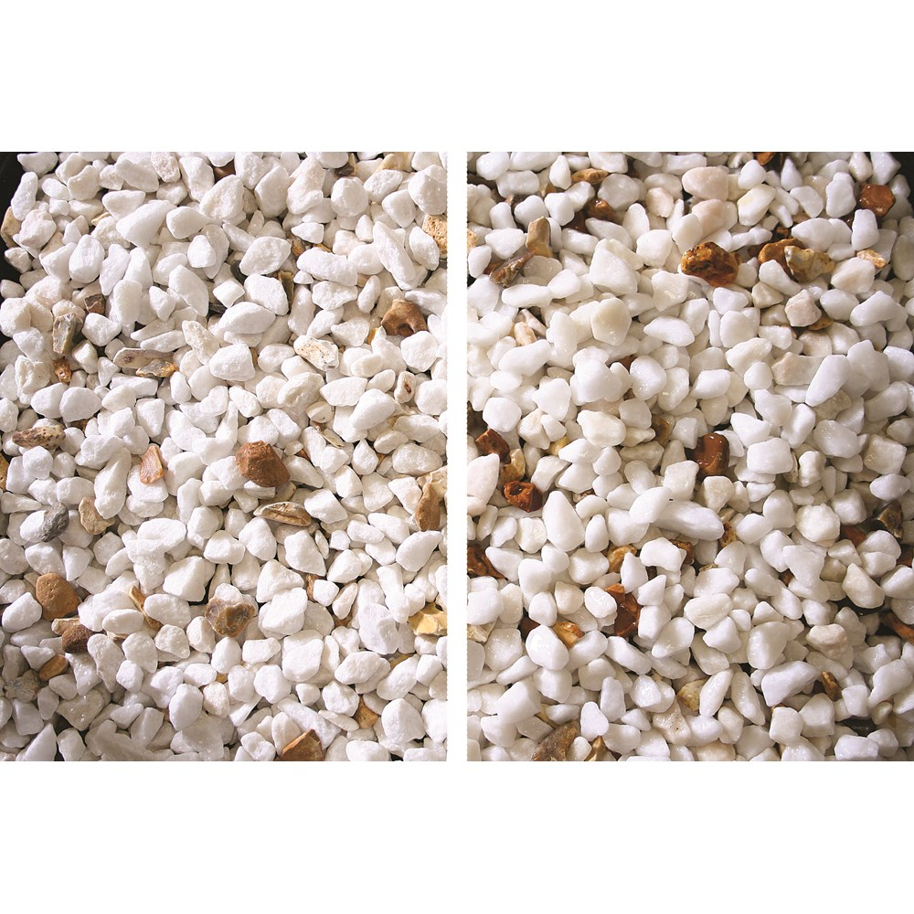 White Marble Chip +10% Brown 25kg