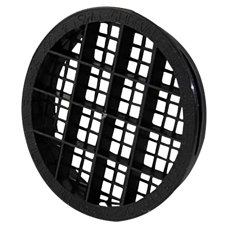 Soffit Vent Twist & Lock Black Round 70mm