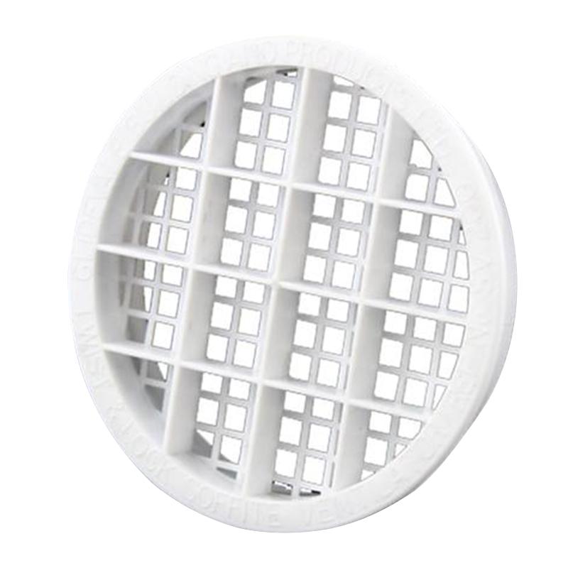 Soffit Vent Twist & Lock White Round 70mm