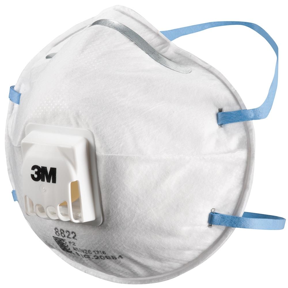 3M 8822 P2S Valved Respirator