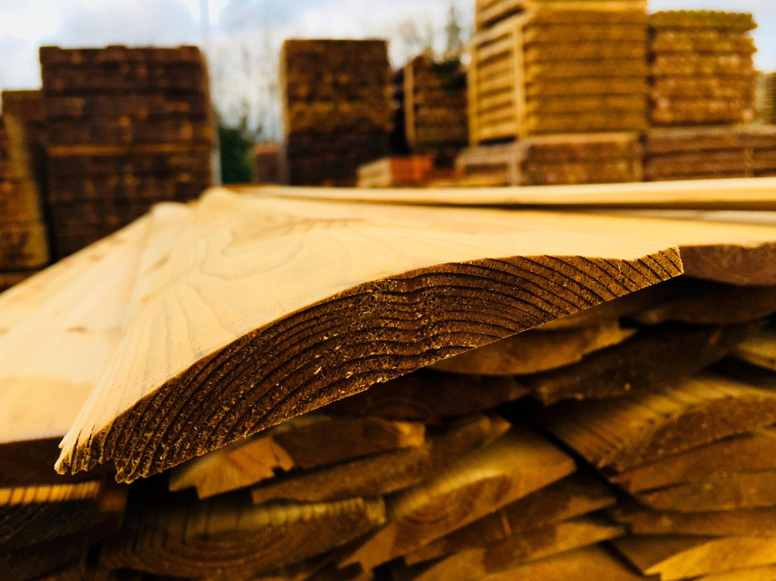 Barrelboard Timber Cladding 125 x 22 x 4800mm
