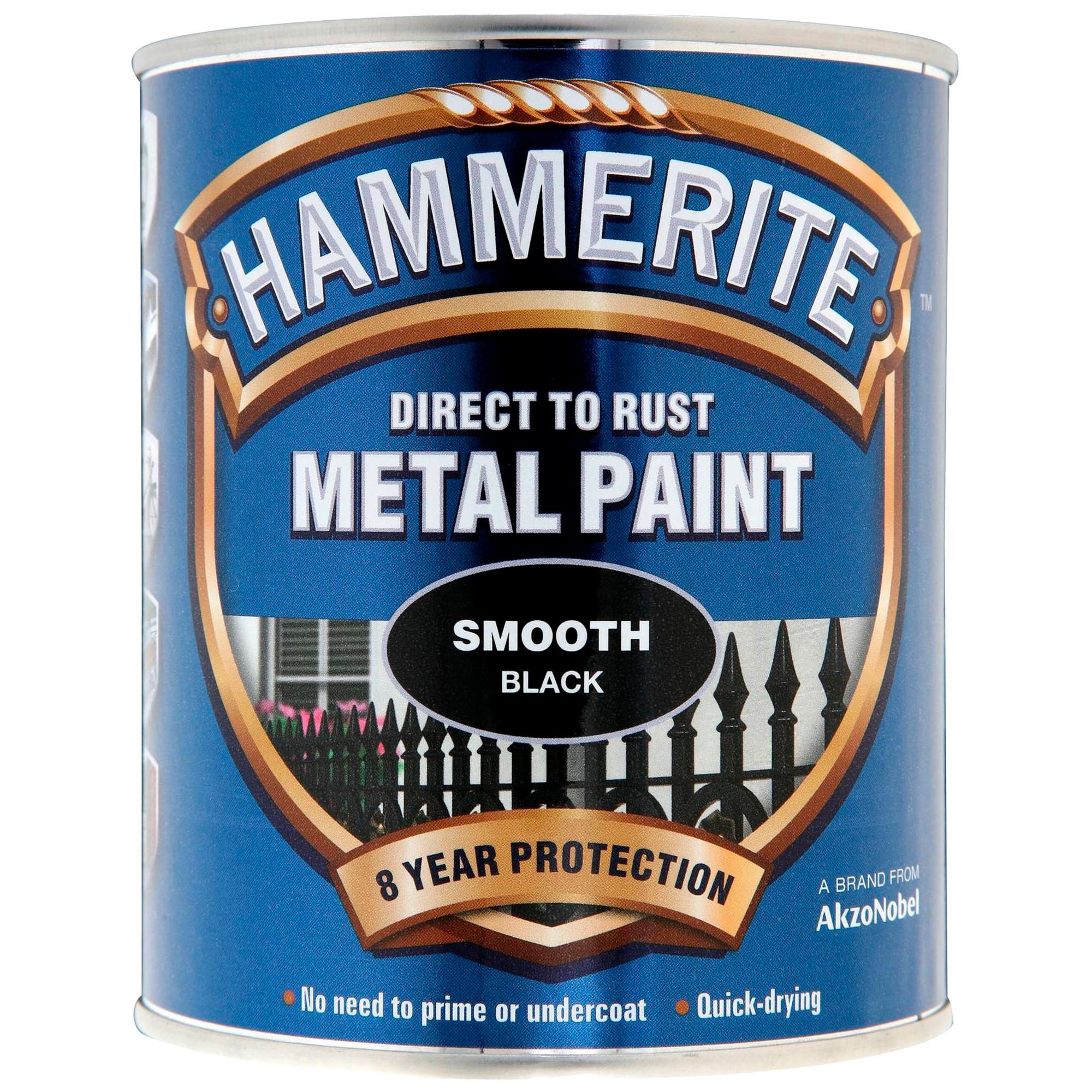 Hammerite Smooth Black 750ml