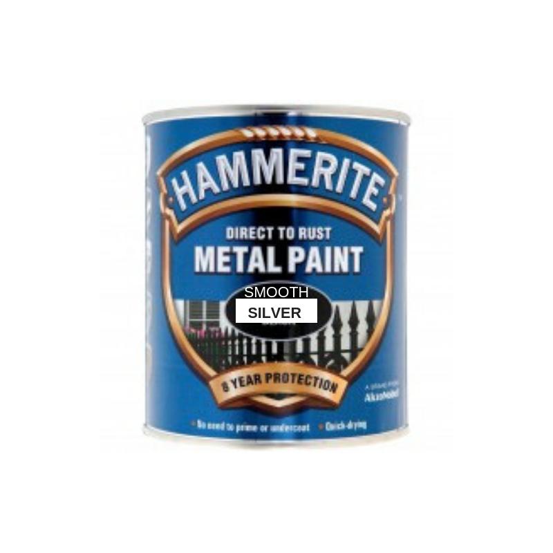 Hammerite Smooth Silver 750ml