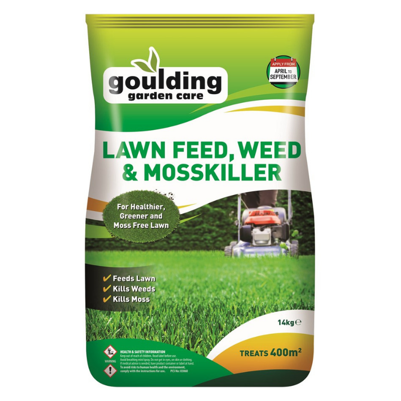 Goulding Lawnfeed, Weed & Mosskiller 14kg  (400m2)