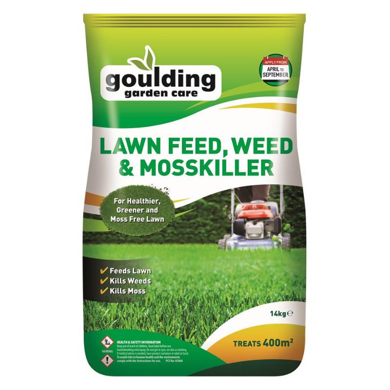 Goulding Lawnfeed, Weed & Moss killer  Large Bag 14/15kg