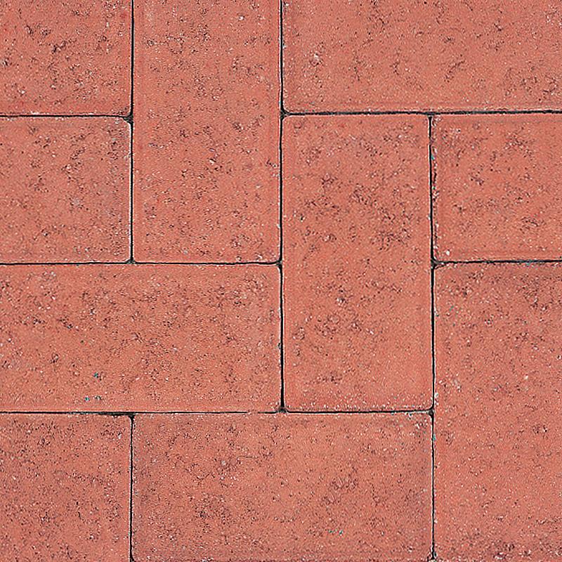Paving Block Rectangular Red 200x100x50mm (Each)