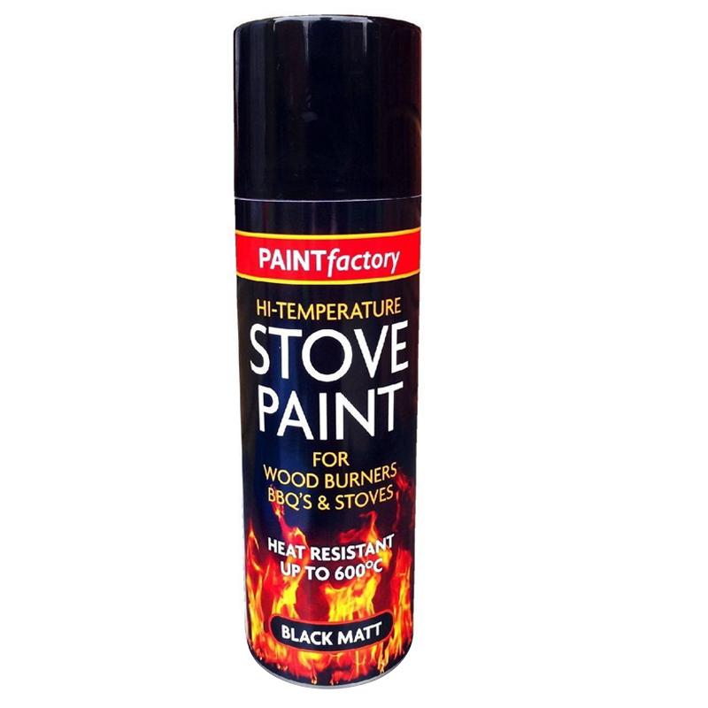 Aerosol Spray Paint High Temperature Black 400ml