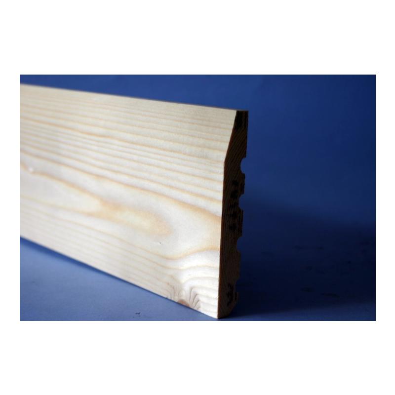 150 x 22mm White Deal Skirting Chamfered Silkwood