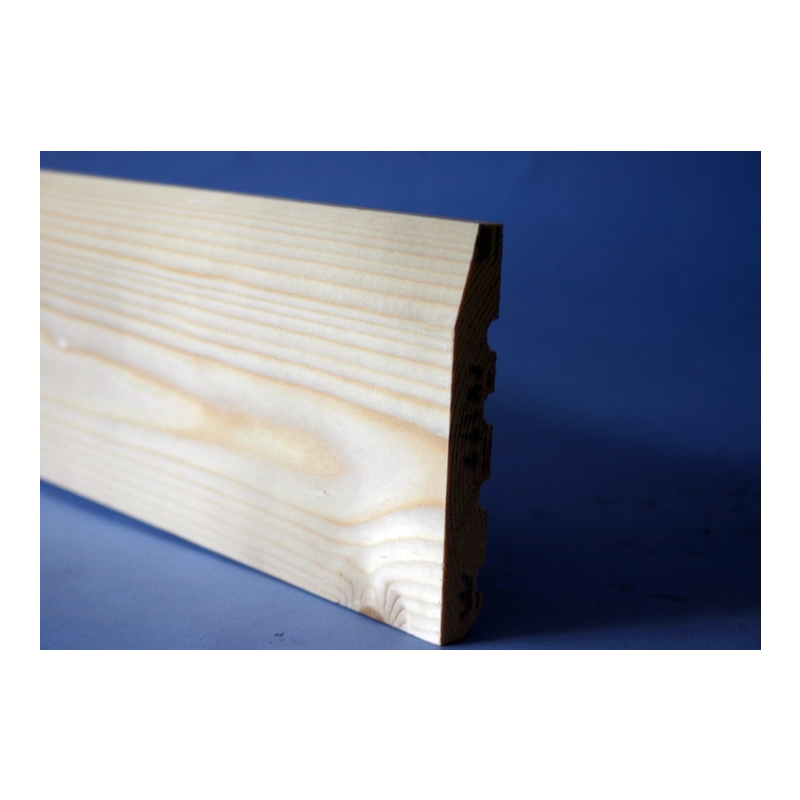 100 x 22mm White Deal Architrave Chamfered Silkwood