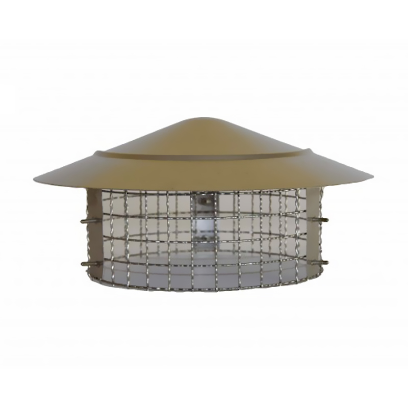 """Anti Bird/Rain Cowl Stainless Steel (to fit 8"""")"""
