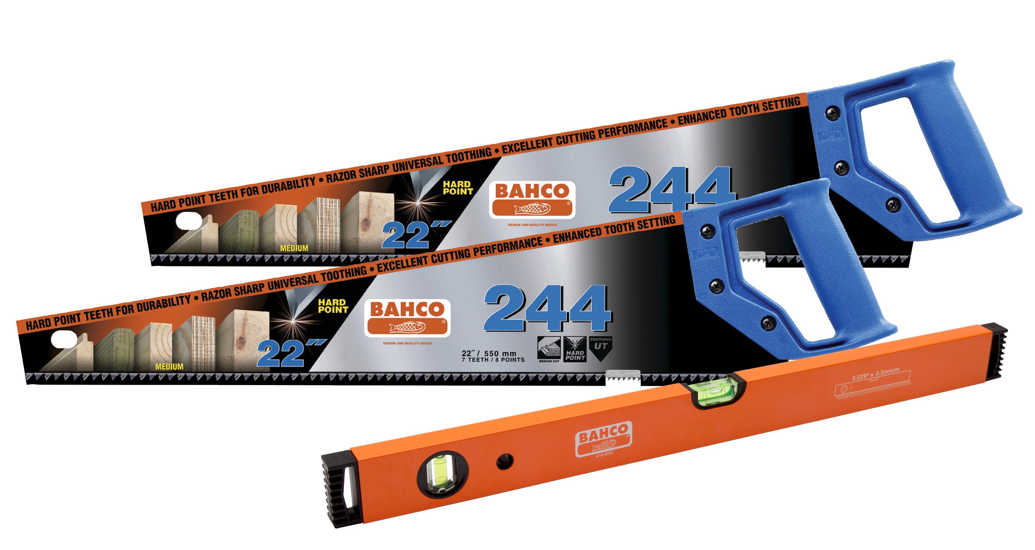 Bahco Saw Set (2 x 244 saws+ 600mm Bahco Level)