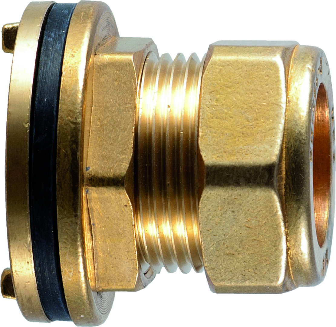 """Compression 350 1/2"""" Flanged Tank Connector"""