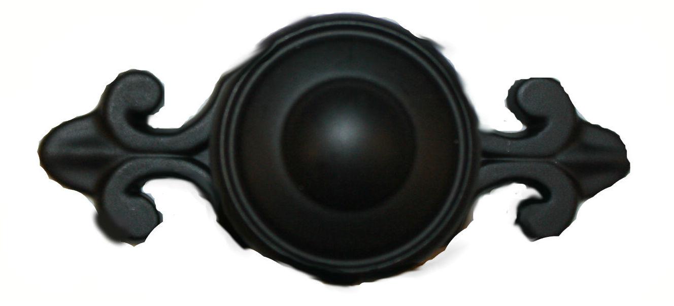 Cabinet Knob & Backplate Black