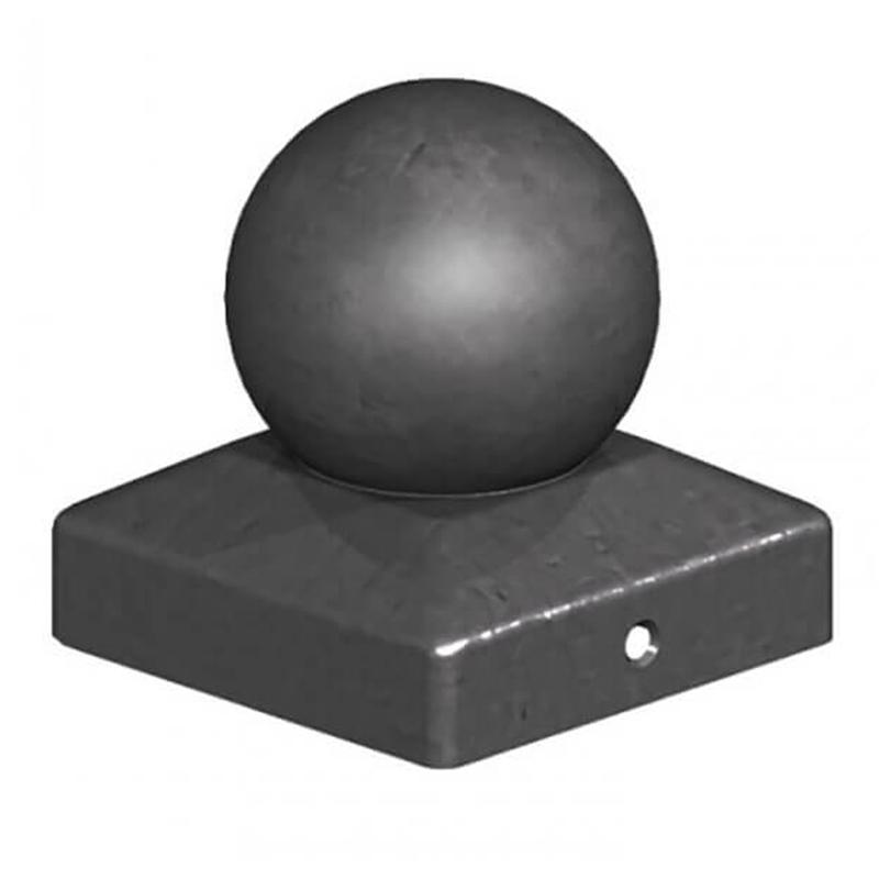 "Metal Ball Finial Black 4"""