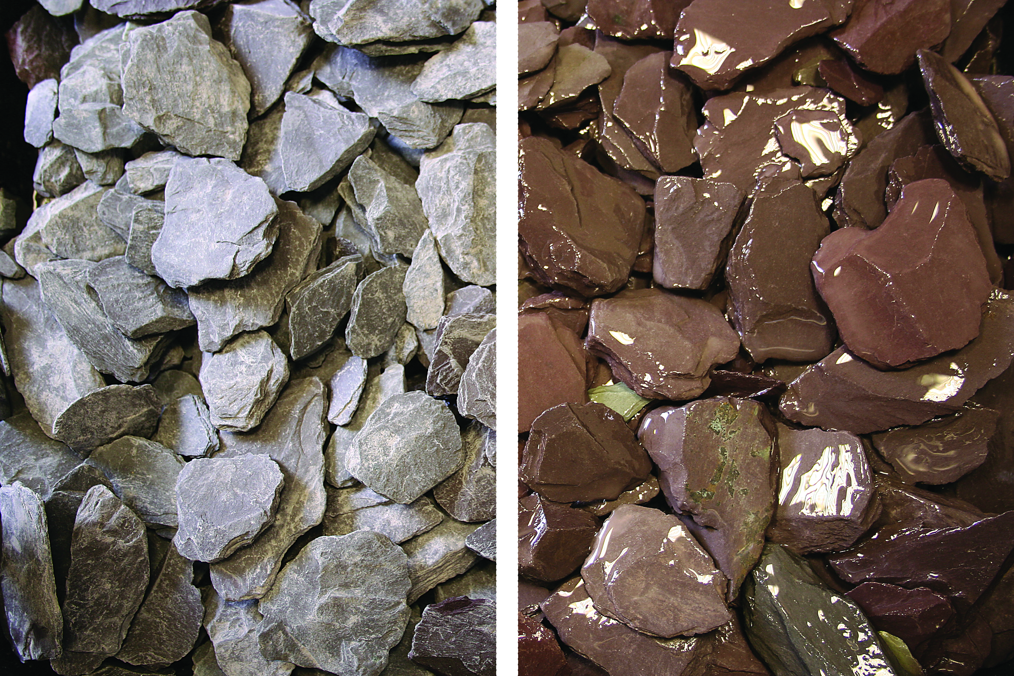 Decorative Stone 25kg - Welsh Plum Slate 40mm