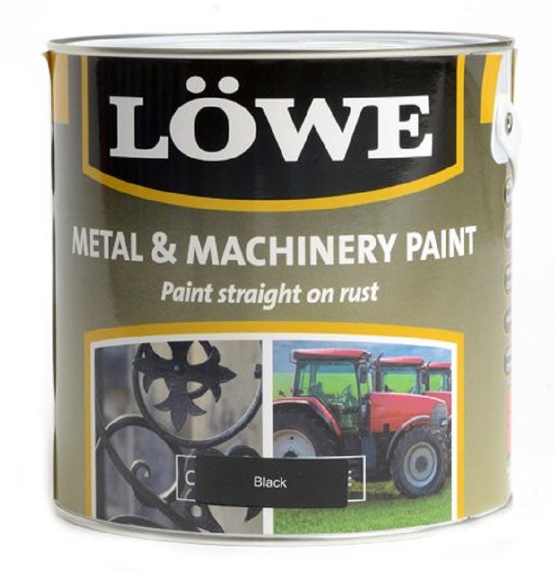 Lowe Metal & Machinery Paint Black 2.5ltr