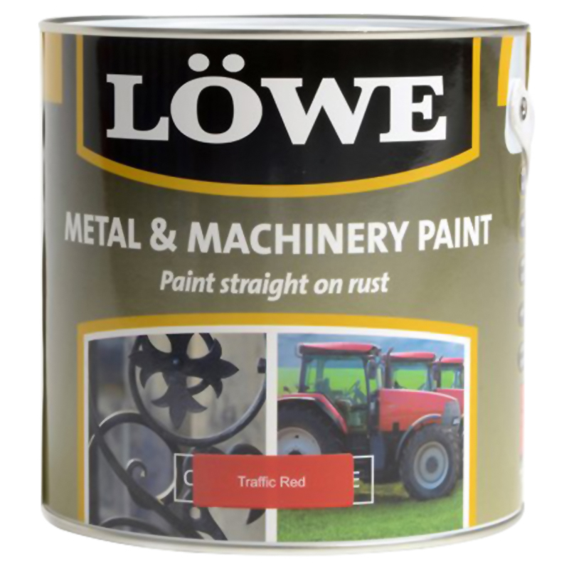 Lowe Metal & Machinery Paint Red 250ml