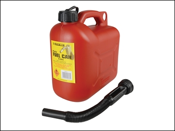 Petrol Can And Spout 5L Leaded Red