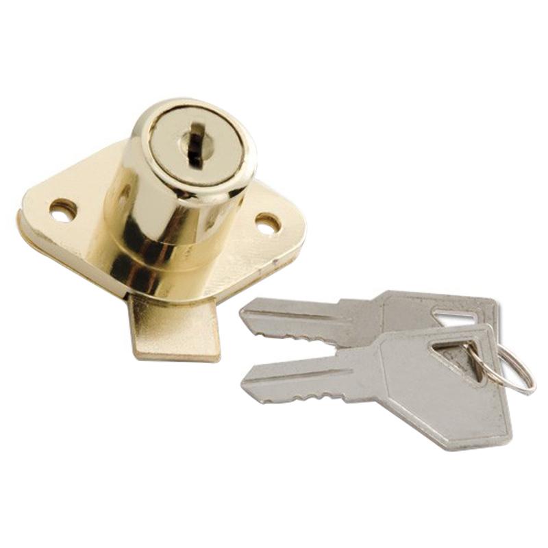 Drawer Lock Brass