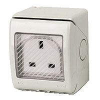 1 Gang Outdoor Socket IP55