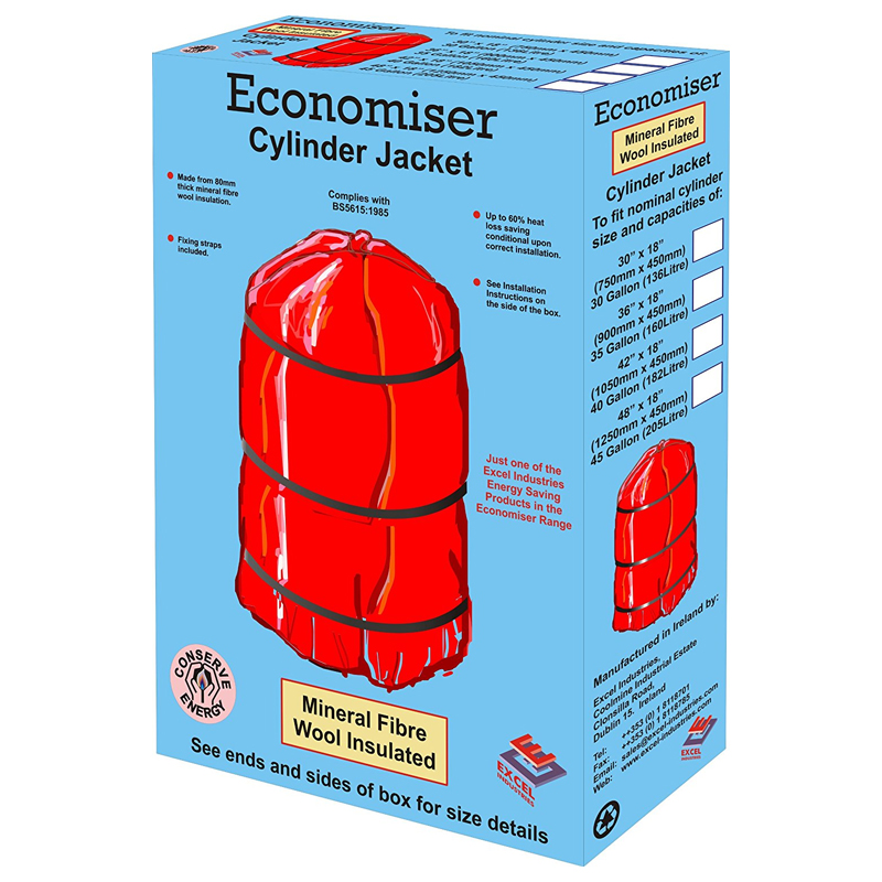 "Economiser 30""x18""x80mm Cylinder Jacket (Bagged)"