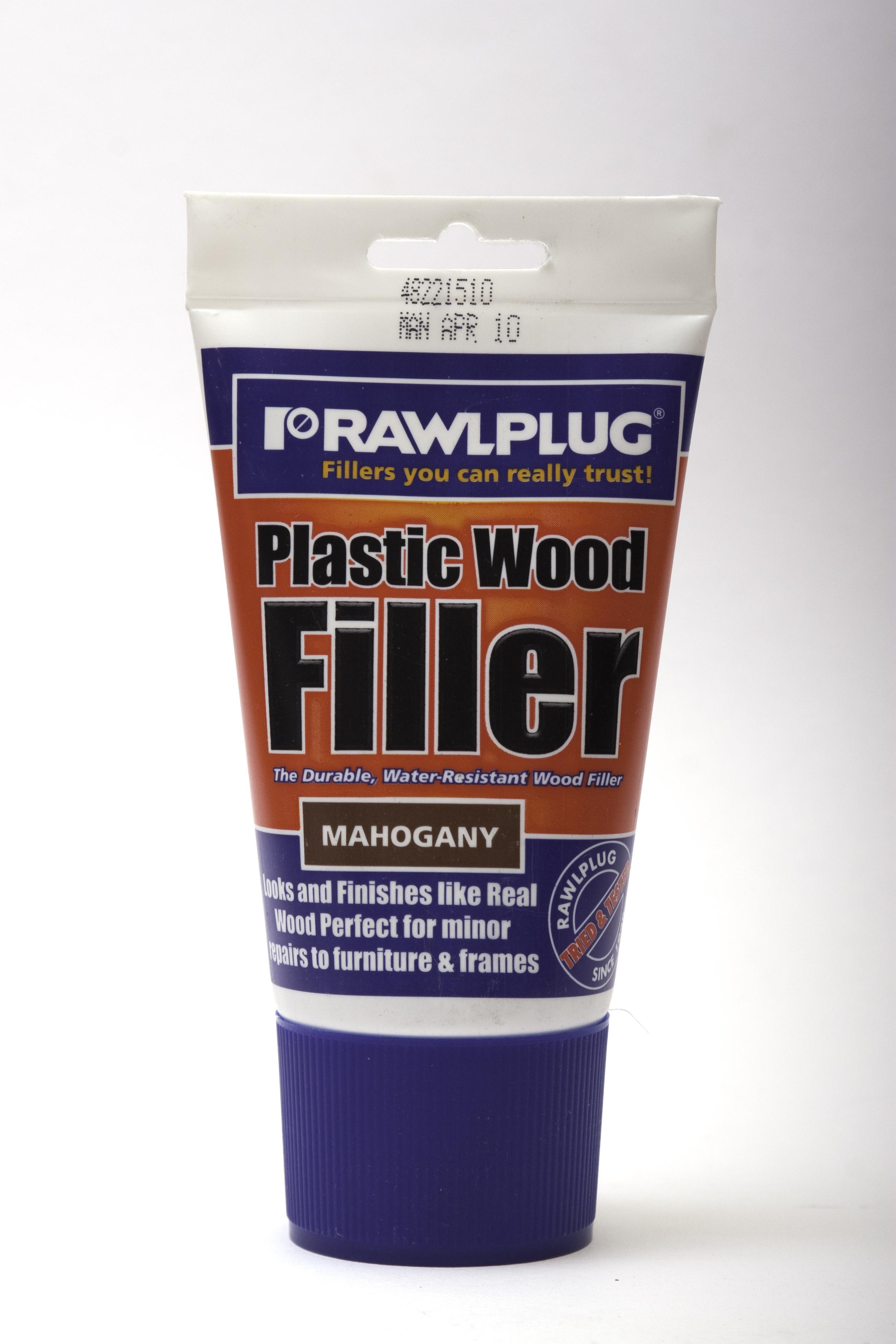 Rawlplug Plastic Wood Filler 100ml Mahogany