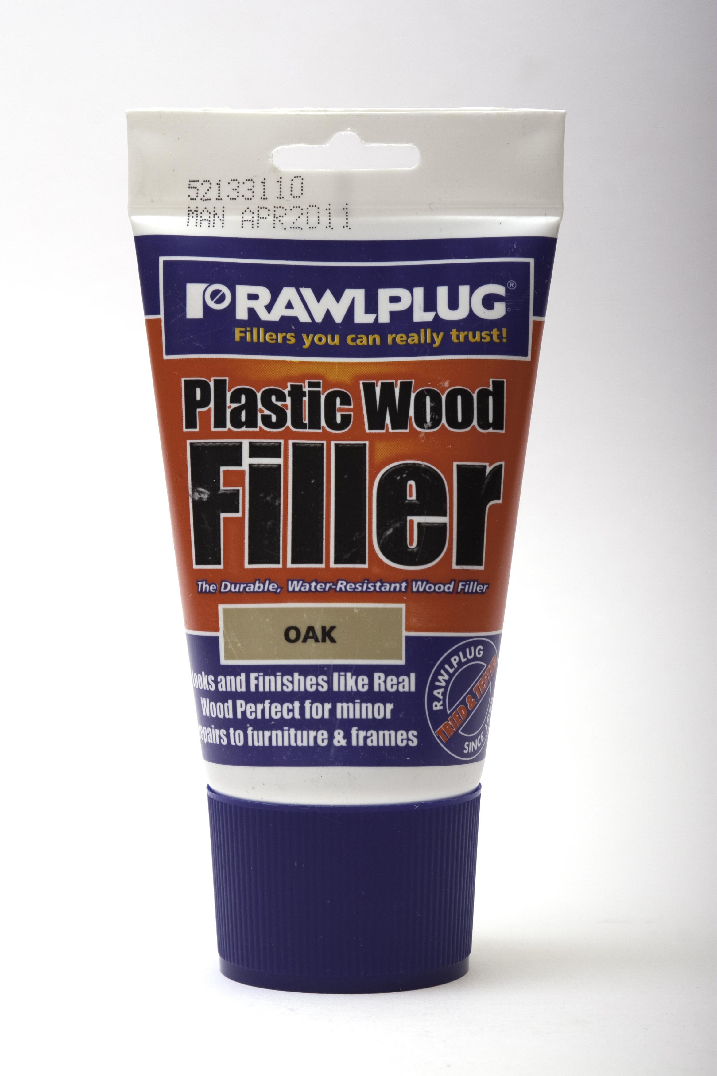Rawlplug Plastic Wood Filler 100ml Oak