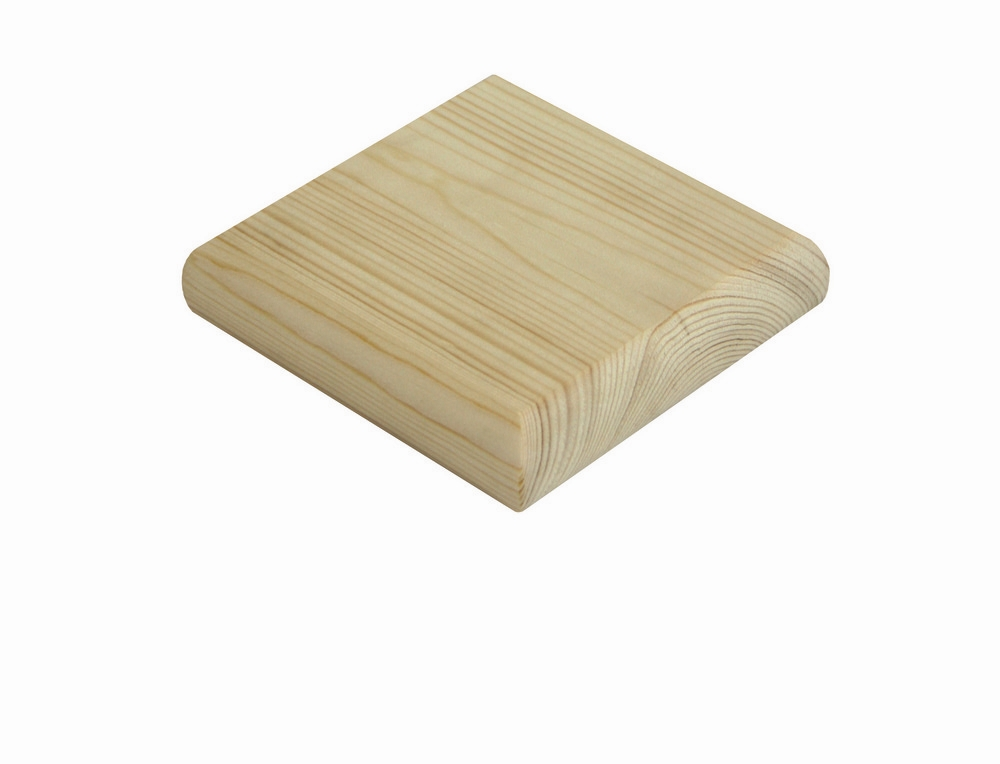 Pine Flat Newel Cap 90mm