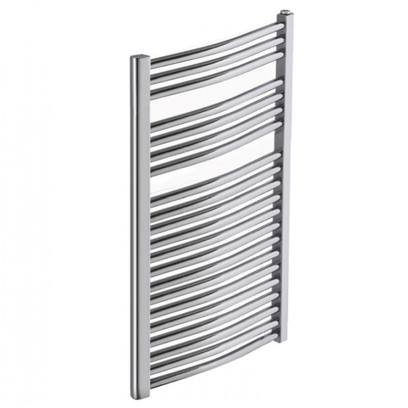 Heated Towel Rail Chrome Curved 1200x600