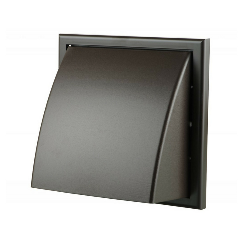 Wall Cowl Non Return 150mm Black (Round Connection)