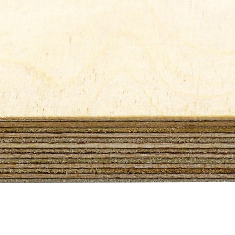 2440 x 1220 x 9mm Russian Birch Plywood BB/BB  BS EN 636-2 / 314-2
