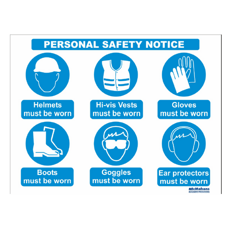 Personal Safety Notice 610x810mm