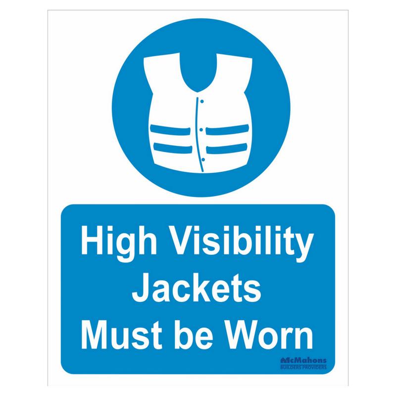Hi Vis Jacket Safety Sign