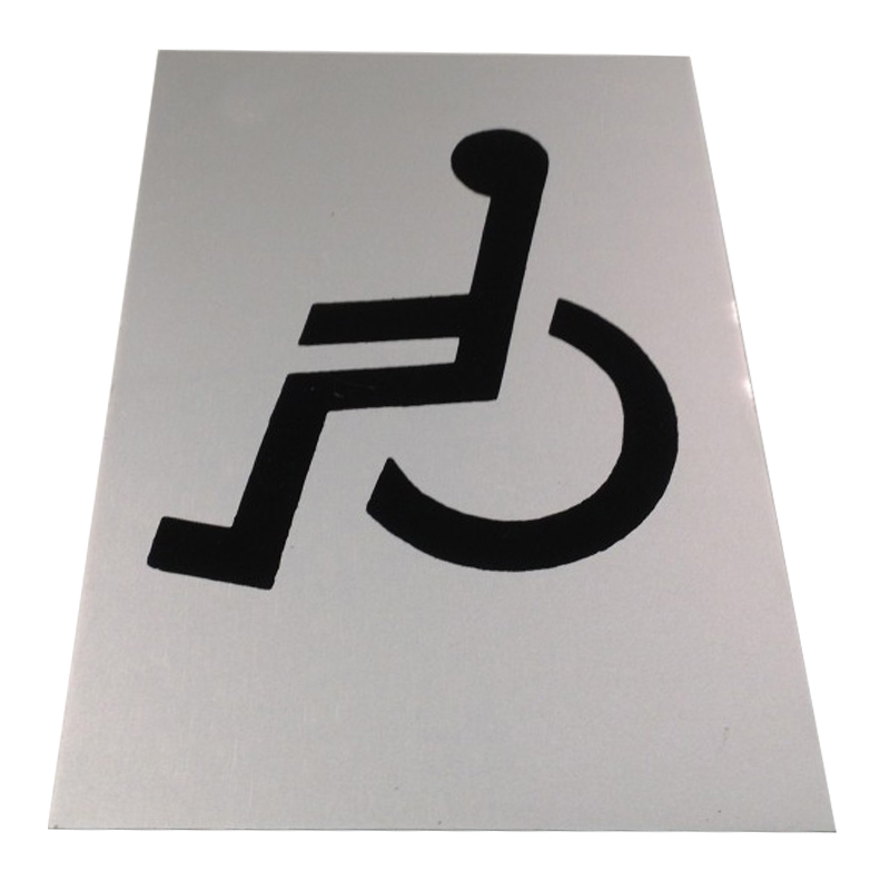 """Sign """"DISABLED"""" Self Adhesive 150x100mm ***"""