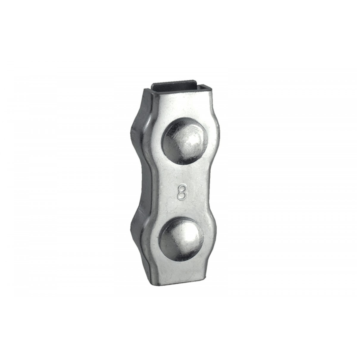 Duplex Clamps (2) Galvanised for Ropes up to 3mm