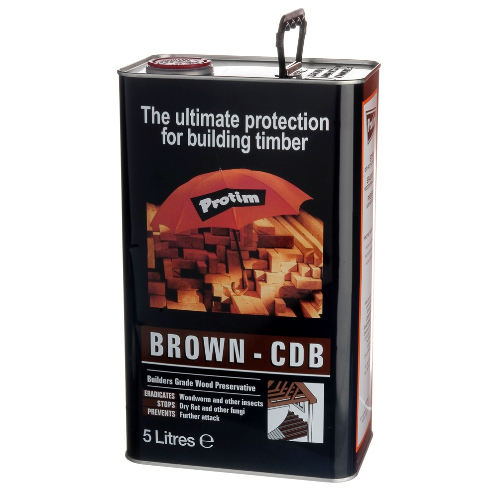 Construction Timber Preserver Tinted Brown   5L