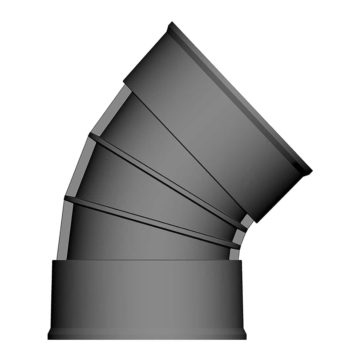 Twinwall Bend 150mm x 45D
