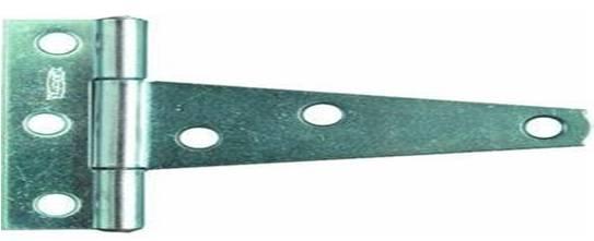 Light Tee Hinge 100m Zinc Plated (pair)