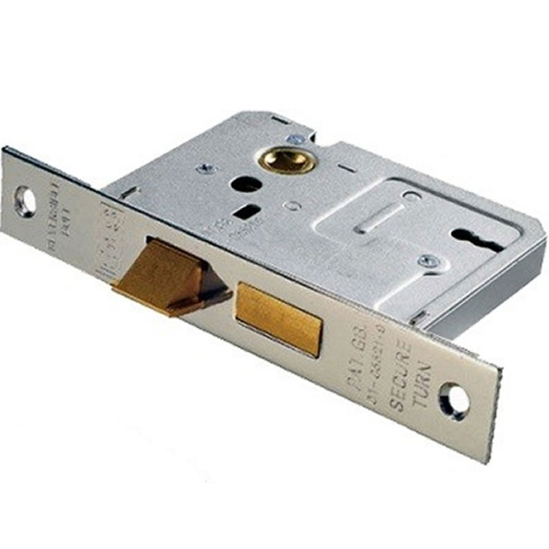 """2 Lever 3"""" Easi T Mortice Lock NICKEL Plated"""