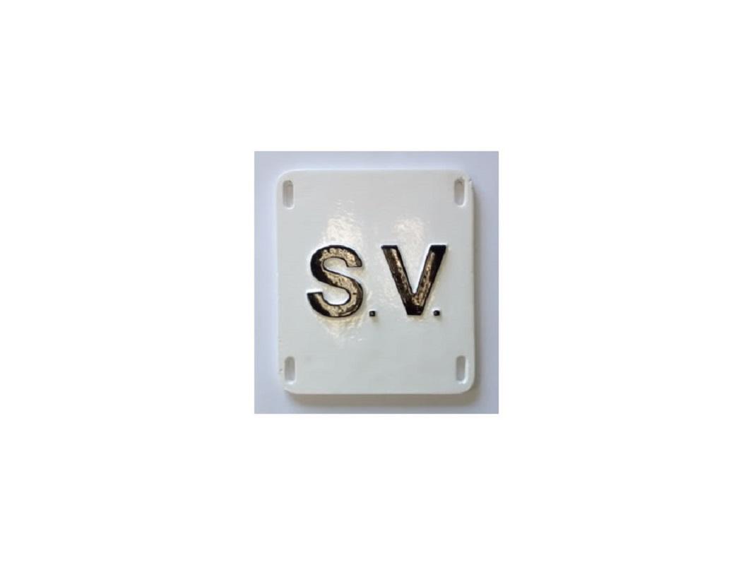 Sluice Valve Marker Plate 200 x 120mm