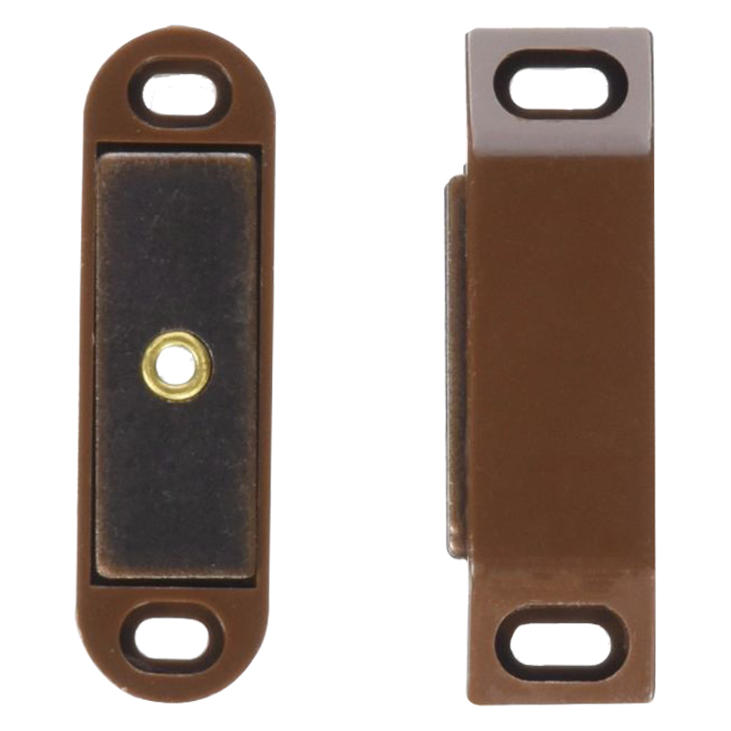 Magnetic Catch Large Brown (Pair)