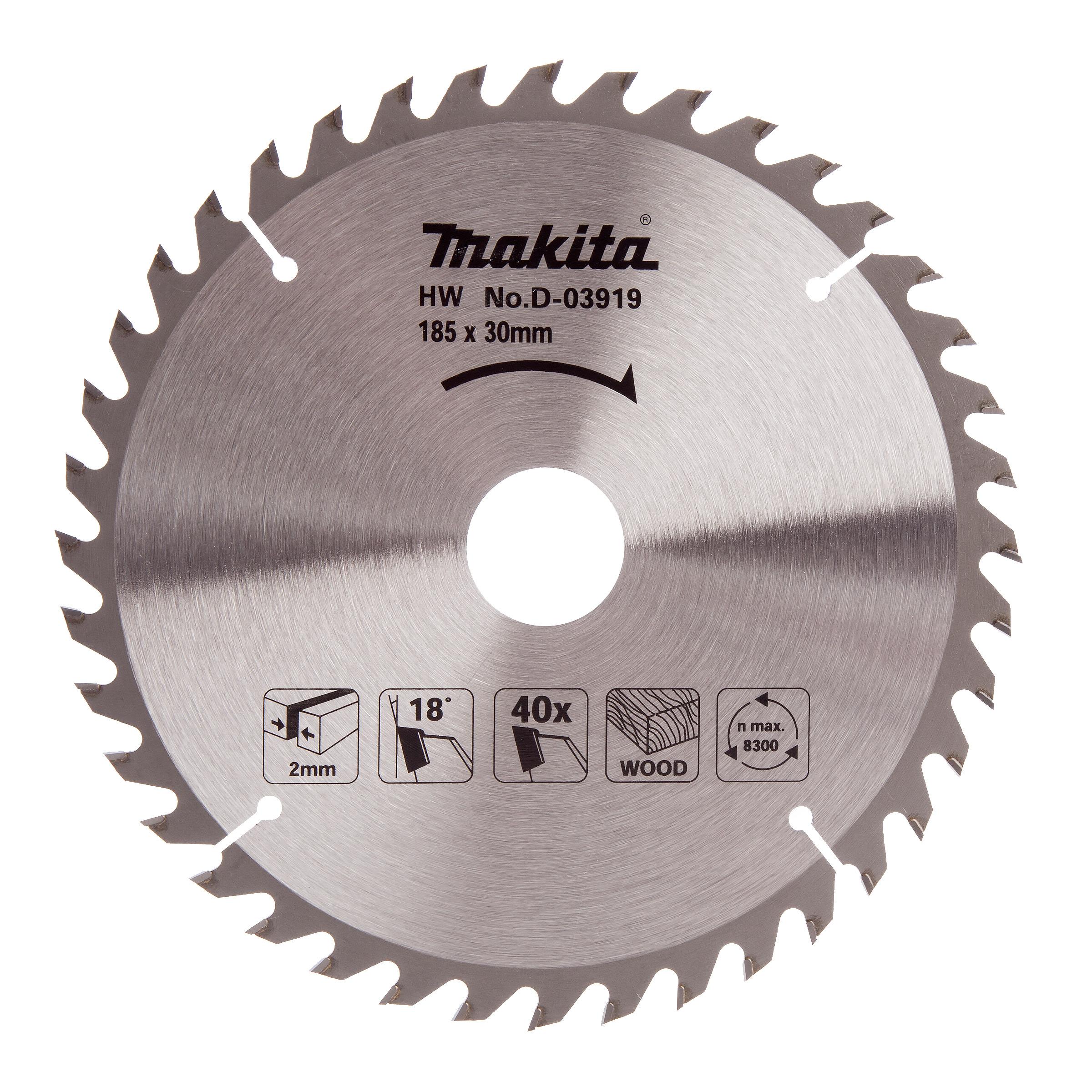 Makita 185x40Tx30mm Standard TCT Saw Blade