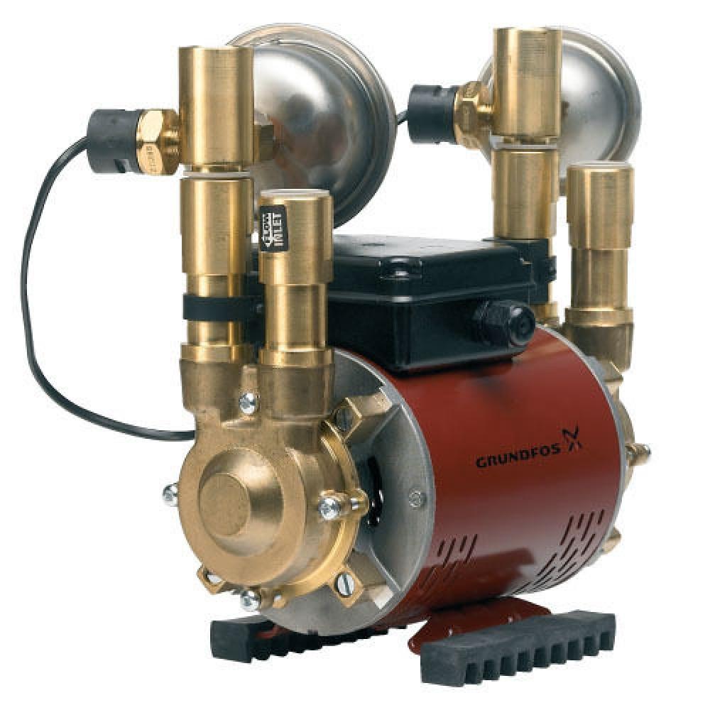 Grundfos Amazon 2bar Brass Negative Head Shower Pump