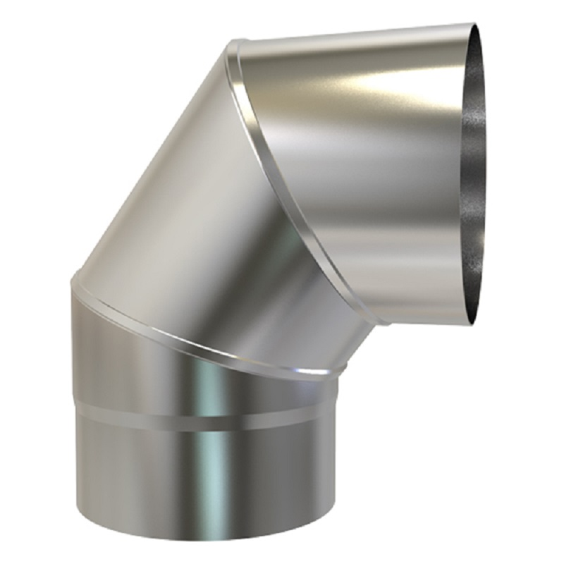 Plain Stainless/Steel Bend 316 125mm 90 deg